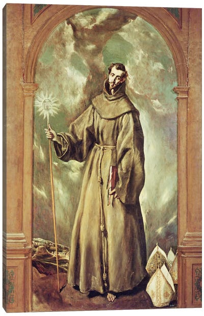 Saint Bernard Of Clairvaux, 1603 Canvas Art Print
