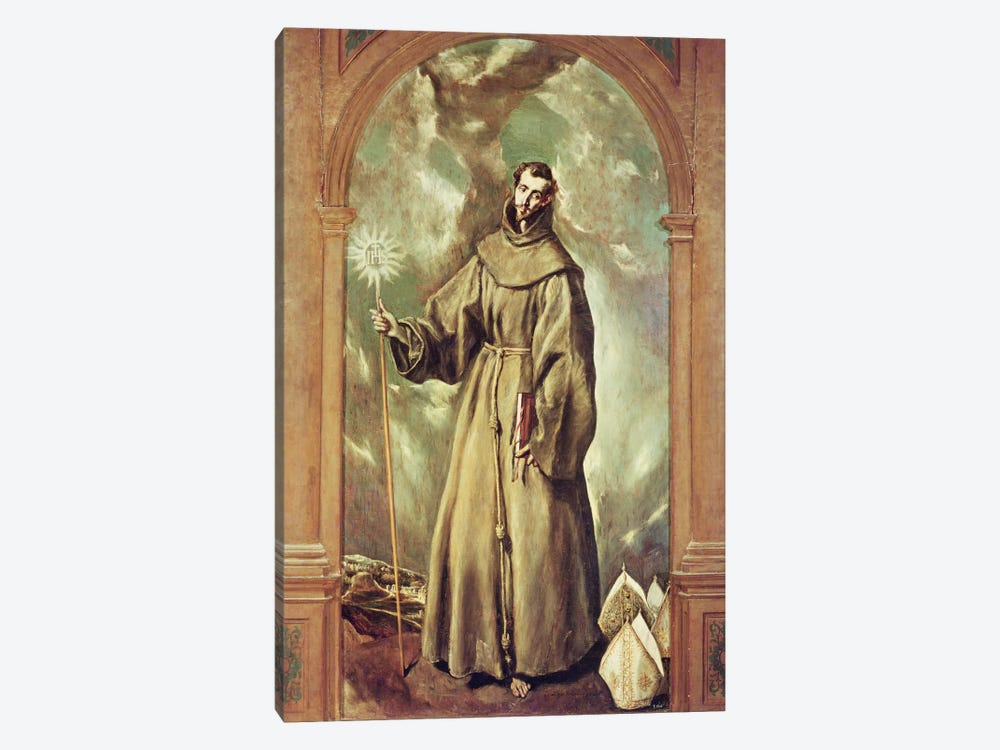 Saint Bernard Of Clairvaux, 1603 by El Greco 1-piece Canvas Art Print