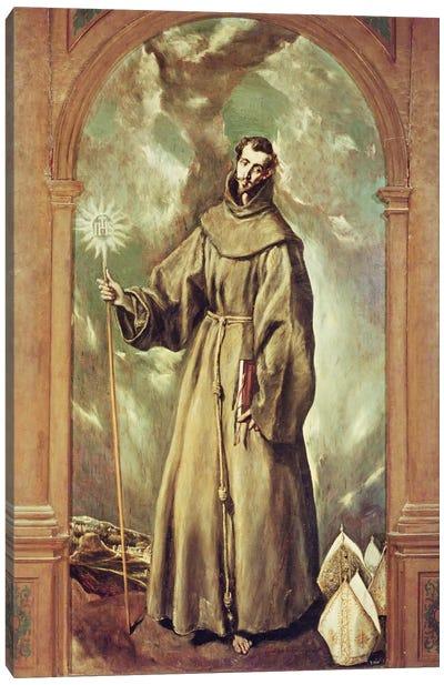 Saint Bernard Of Clairvaux, 1603 Canvas Art Print