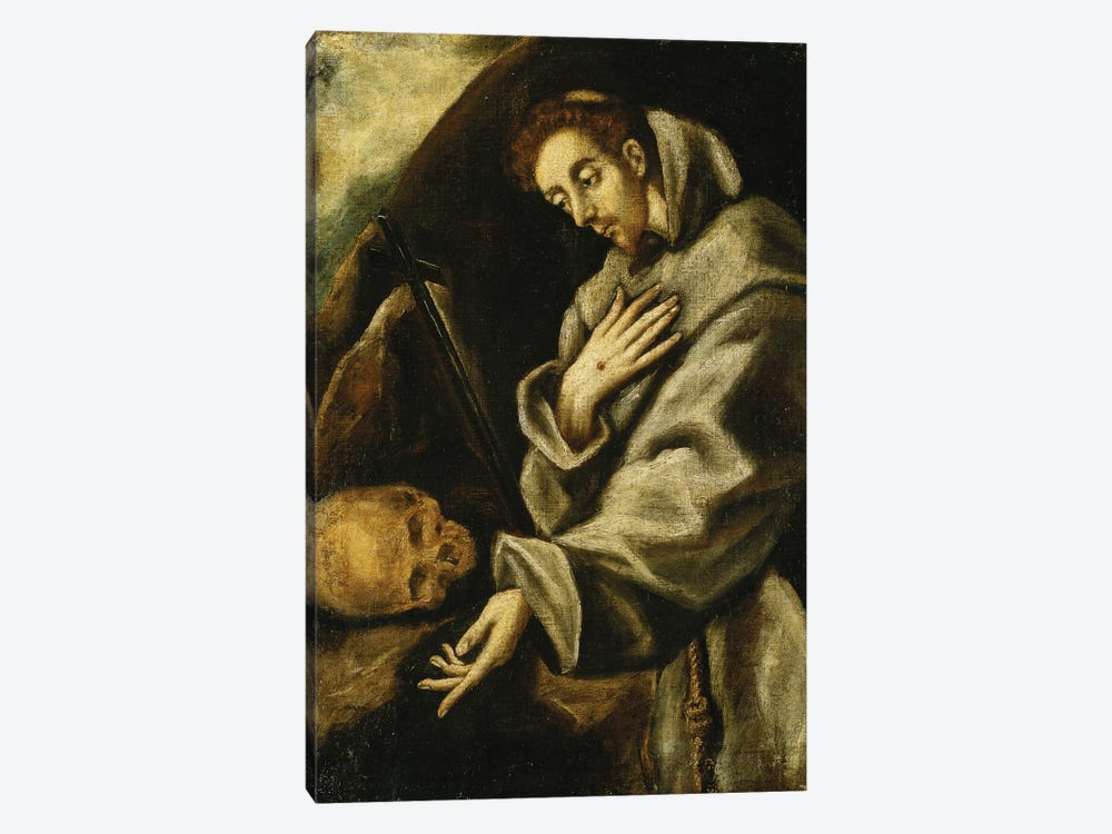 Saint Francis In Meditation (Private Collection) by El Greco 1-piece Canvas Art