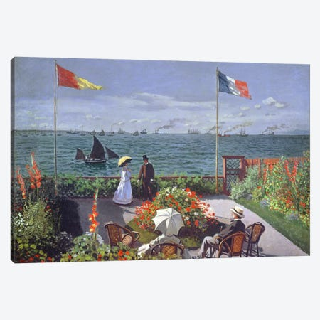The Terrace at Sainte-Adresse, 1867  Canvas Print #BMN616} by Claude Monet Canvas Wall Art