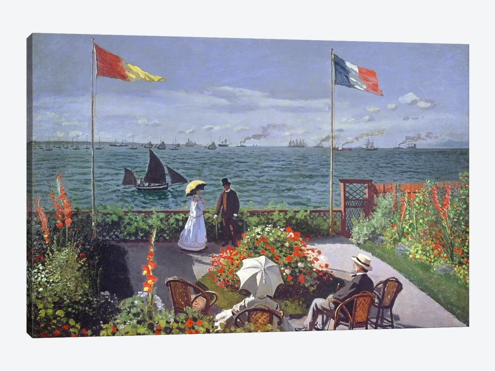 The Terrace at Sainte-Adresse, 1867  by Claude Monet 1-piece Canvas Artwork