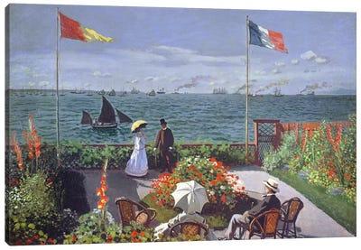 The Terrace at Sainte-Adresse, 1867  Canvas Art Print