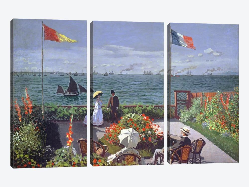 The Terrace at Sainte-Adresse, 1867  by Claude Monet 3-piece Canvas Art