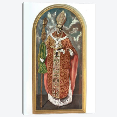 Saint Ildefonsus (Work Based On Original In El Escorial) Canvas Print #BMN6172} by El Greco Canvas Art Print