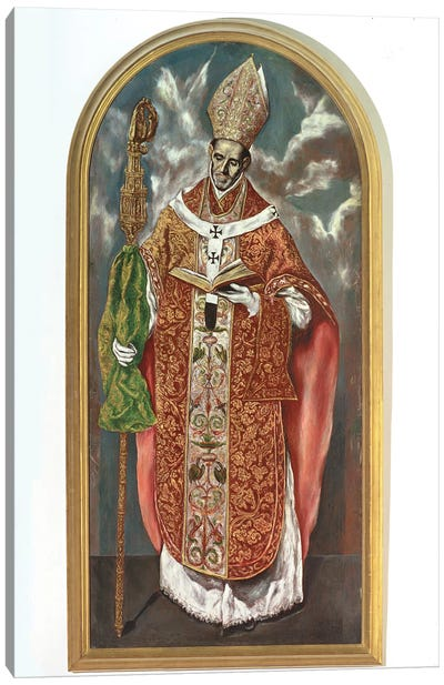 Saint Ildefonsus (Work Based On Original In El Escorial) Canvas Art Print