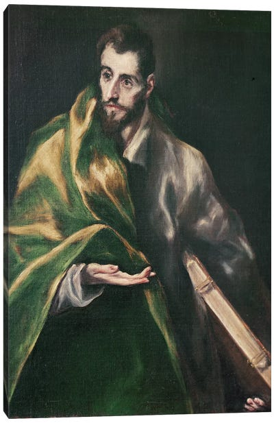 Saint Jacques le Majeur, c.1610-14 Canvas Art Print