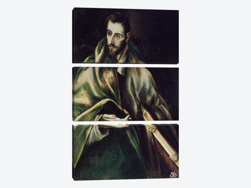 Saint James The Greater by El Greco 3-piece Canvas Print