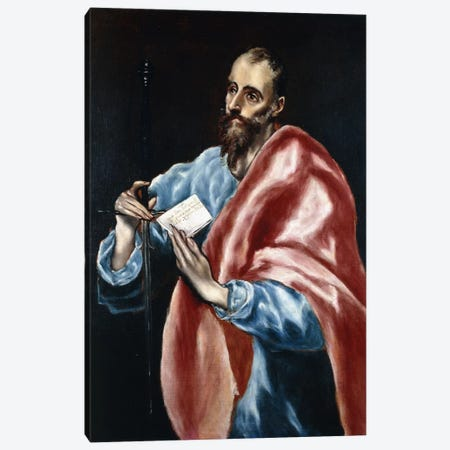 Saint Paul Canvas Print #BMN6176} by El Greco Canvas Artwork