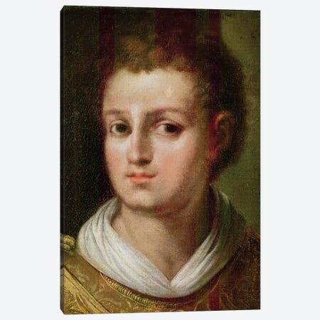Self Portrait As Saint Stephen Canvas Print #BMN6178} by El Greco Canvas Print