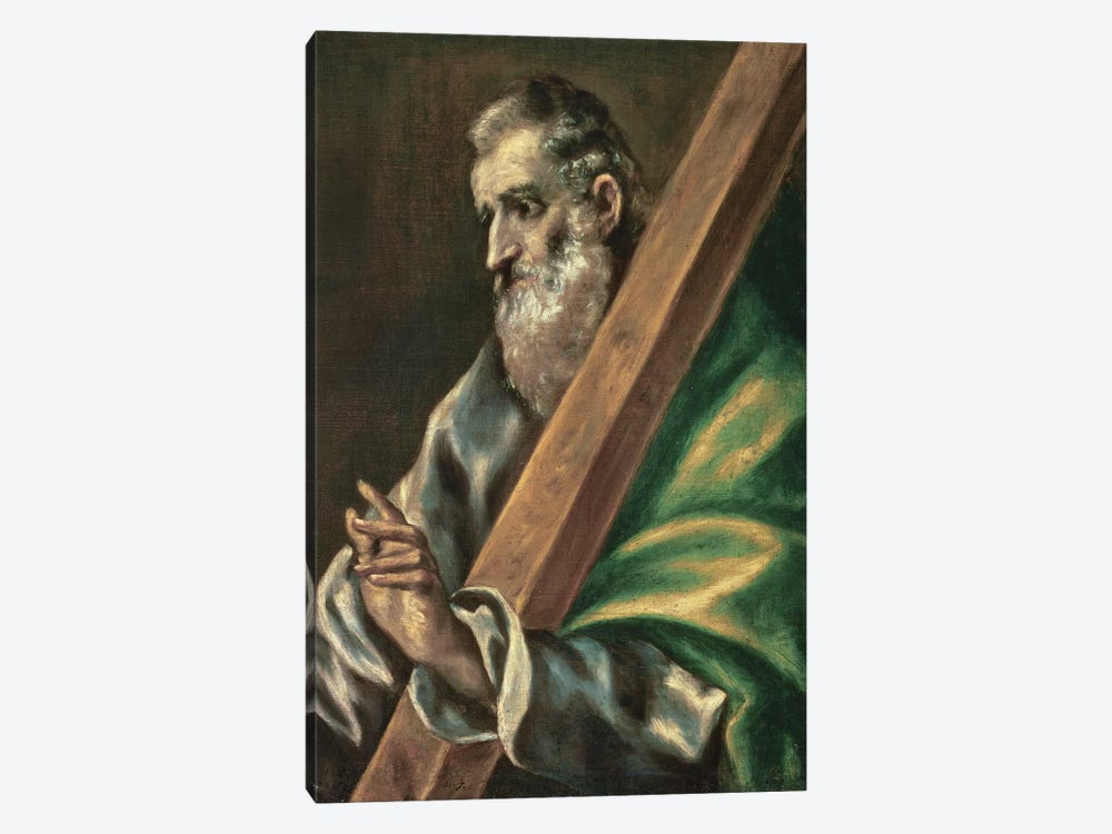 St. Andrew (Museum Of Fine Arts - Budapest) by El Greco 1-piece Canvas Artwork
