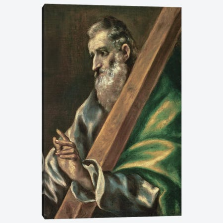 St. Andrew (Museum Of Fine Arts - Budapest) Canvas Print #BMN6182} by El Greco Canvas Artwork