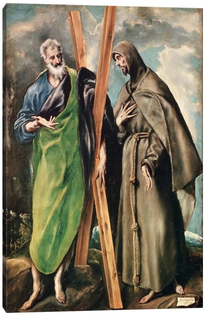 St. Andrew And St. Francis Of Assisi Canvas Print #BMN6183