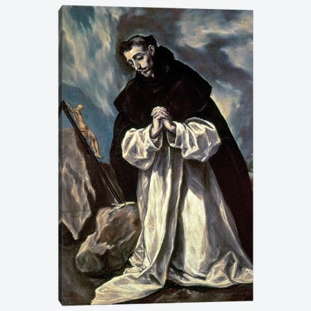 St. Dominic Canvas Print #BMN6185} by El Greco Canvas Print