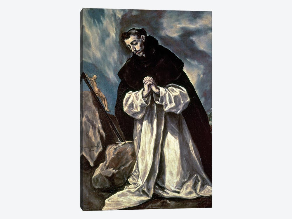 St. Dominic by El Greco 1-piece Canvas Art Print