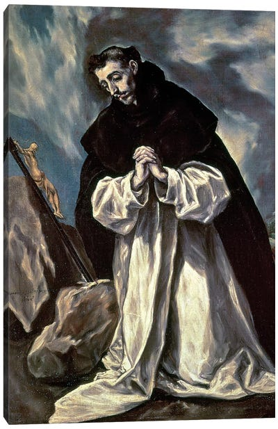 St. Dominic Canvas Art Print