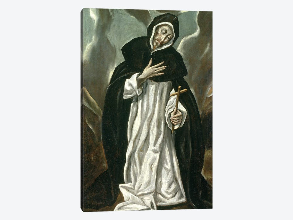 St. Dominic Of Guzman by El Greco 1-piece Canvas Artwork