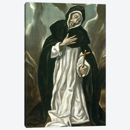 St. Dominic Of Guzman Canvas Print #BMN6186} by El Greco Canvas Print