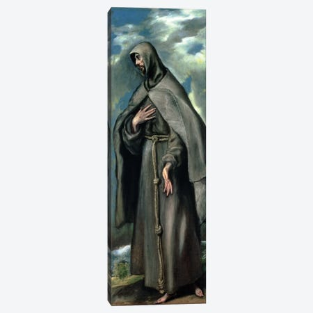 St. Francis Of Assisi Canvas Print #BMN6188} by El Greco Canvas Wall Art