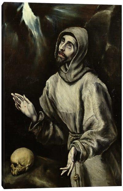 St. Francis Of Assisi Receiving The Stigmata, c.1595 (Musee des Beaux-Arts de Pau) Canvas Print #BMN6189