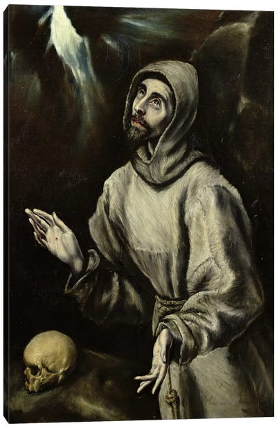 St. Francis Of Assisi Receiving The Stigmata, c.1595 (Musee des Beaux-Arts de Pau) Canvas Art Print