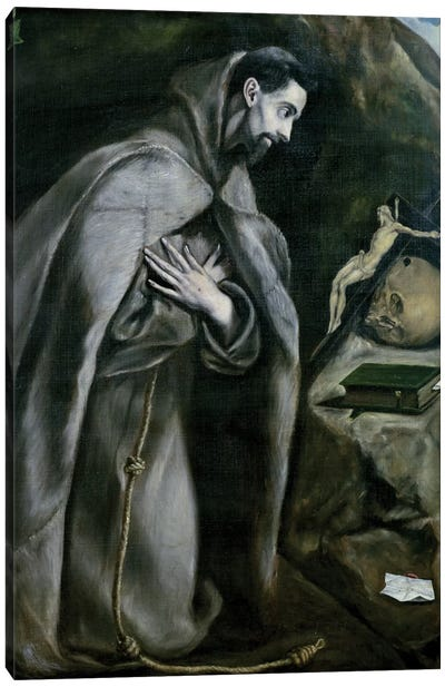 St. Francis Of Assisi, 1580-95 (Palais des Beaux-Arts de Lille) Canvas Art Print