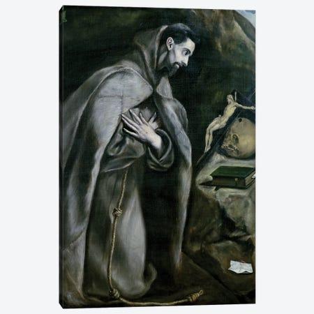 St. Francis Of Assisi, 1580-95 (Palais des Beaux-Arts de Lille) Canvas Print #BMN6190} by El Greco Canvas Art Print