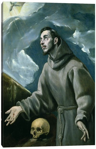 St. Francis Receiving The Stigmata (Private Collection) Canvas Art Print