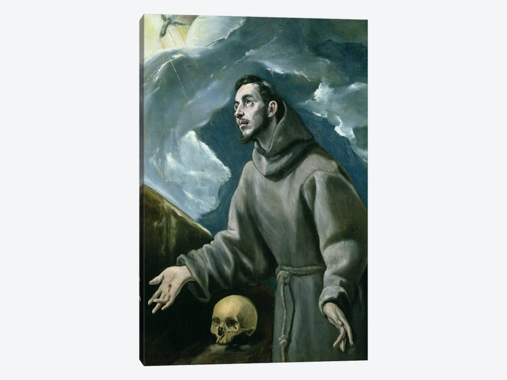 St. Francis Receiving The Stigmata (Private Collection) by El Greco 1-piece Canvas Art