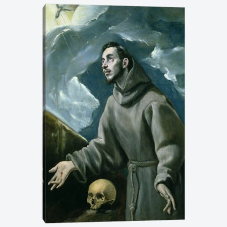 St. Francis Receiving The Stigmata (Private Collection) Canvas Print #BMN6191} by El Greco Canvas Art Print