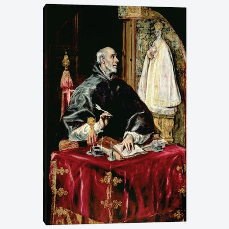 St. Ildefonsus, 1597-1603 Canvas Print #BMN6192} by El Greco Canvas Print