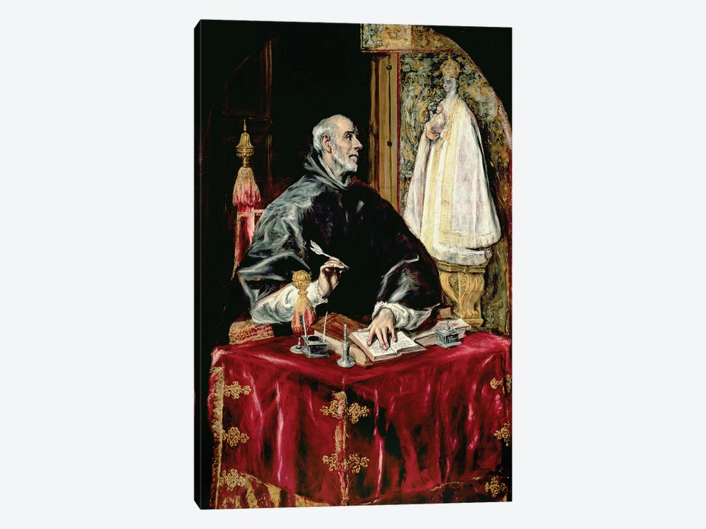St. Ildefonsus, 1597-1603 by El Greco 1-piece Canvas Print