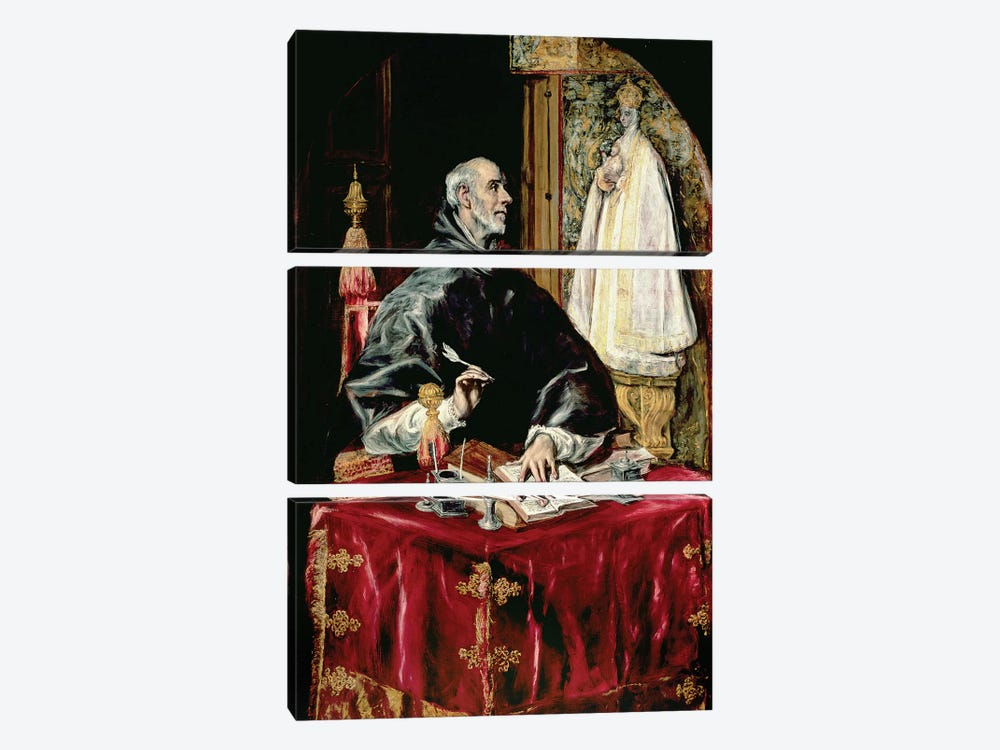 St. Ildefonsus, 1597-1603 by El Greco 3-piece Canvas Art Print