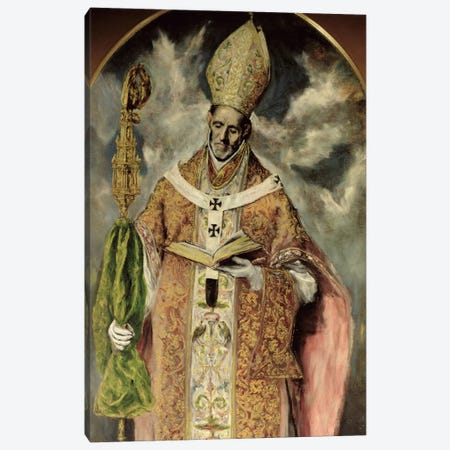 St. Ildefonsus, 1605-10 Canvas Print #BMN6193} by El Greco Canvas Print