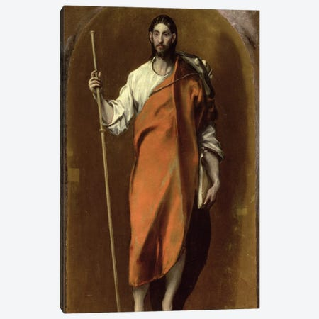 St. James The Greater Canvas Print #BMN6194} by El Greco Canvas Wall Art