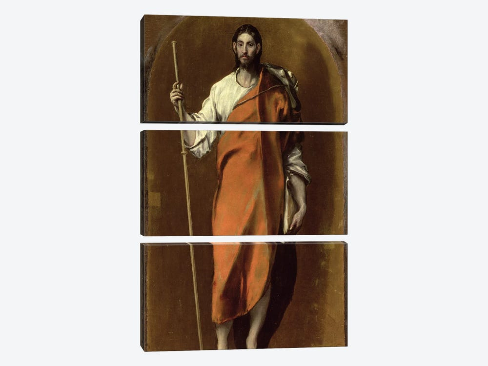 St. James The Greater by El Greco 3-piece Canvas Print