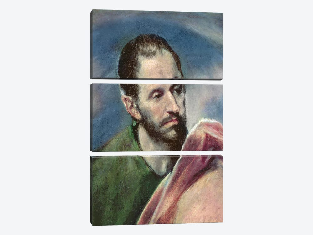 St. James The Less, c.1595-1600 by El Greco 3-piece Canvas Art Print