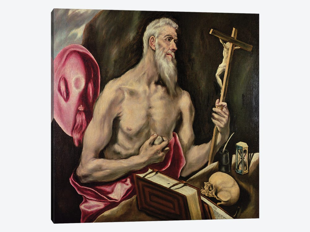 St. Jerome by El Greco 1-piece Canvas Wall Art