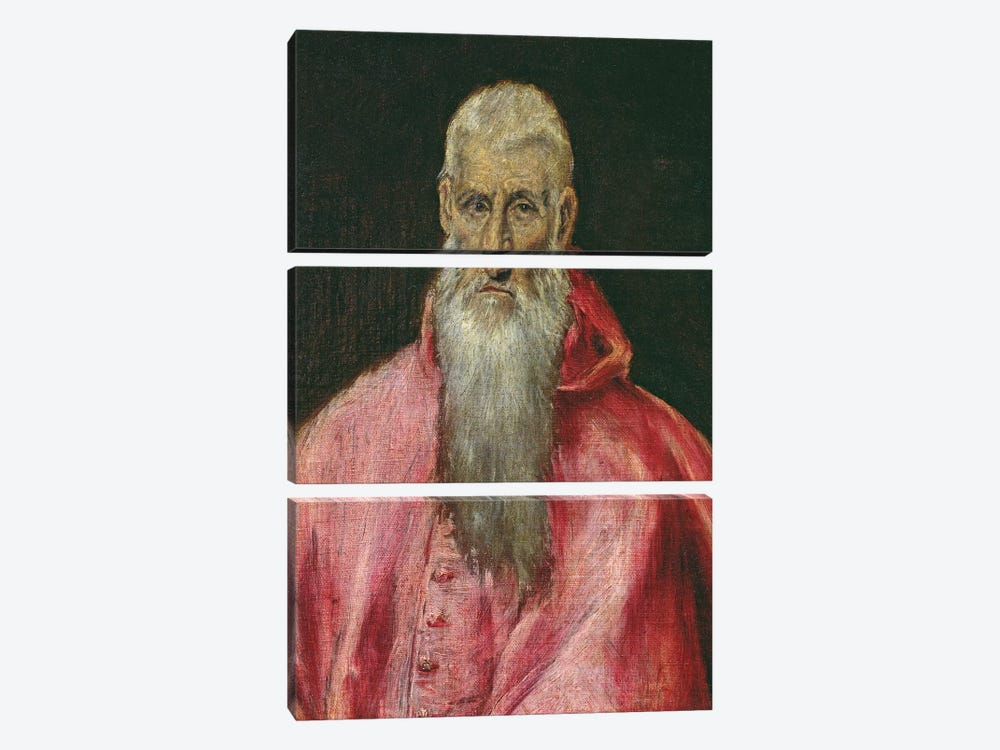 St. Jerome by El Greco 3-piece Canvas Art Print