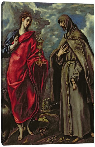 St. John The Evangelist And St. Francis, c.1600 Canvas Print #BMN6200