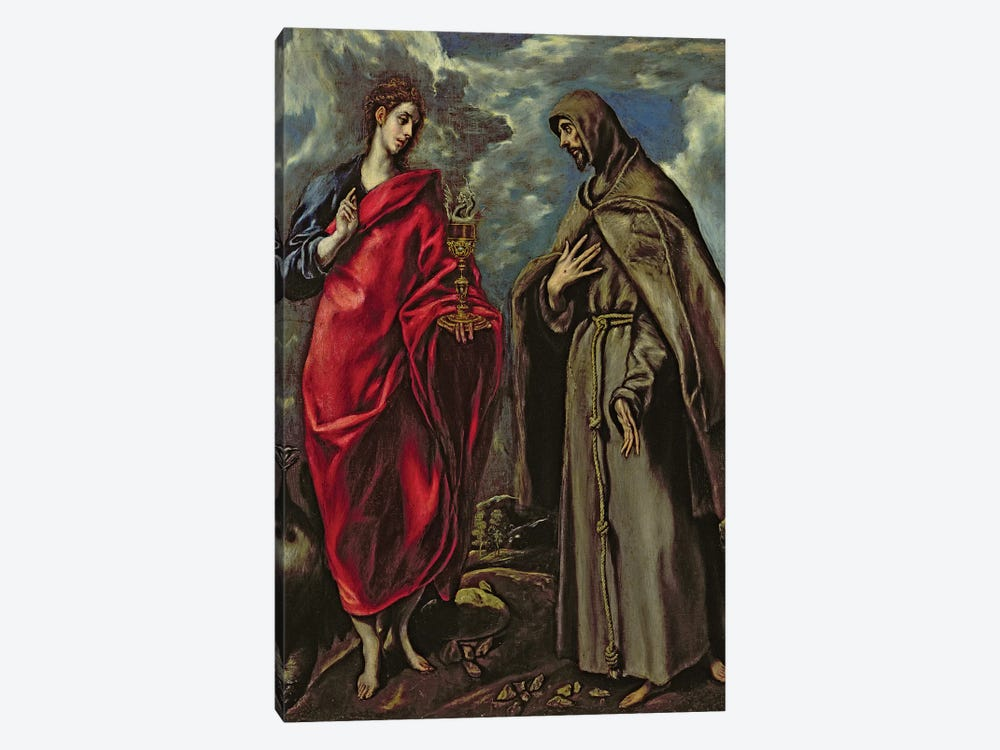 St. John The Evangelist And St. Francis, c.1600 by El Greco 1-piece Canvas Artwork