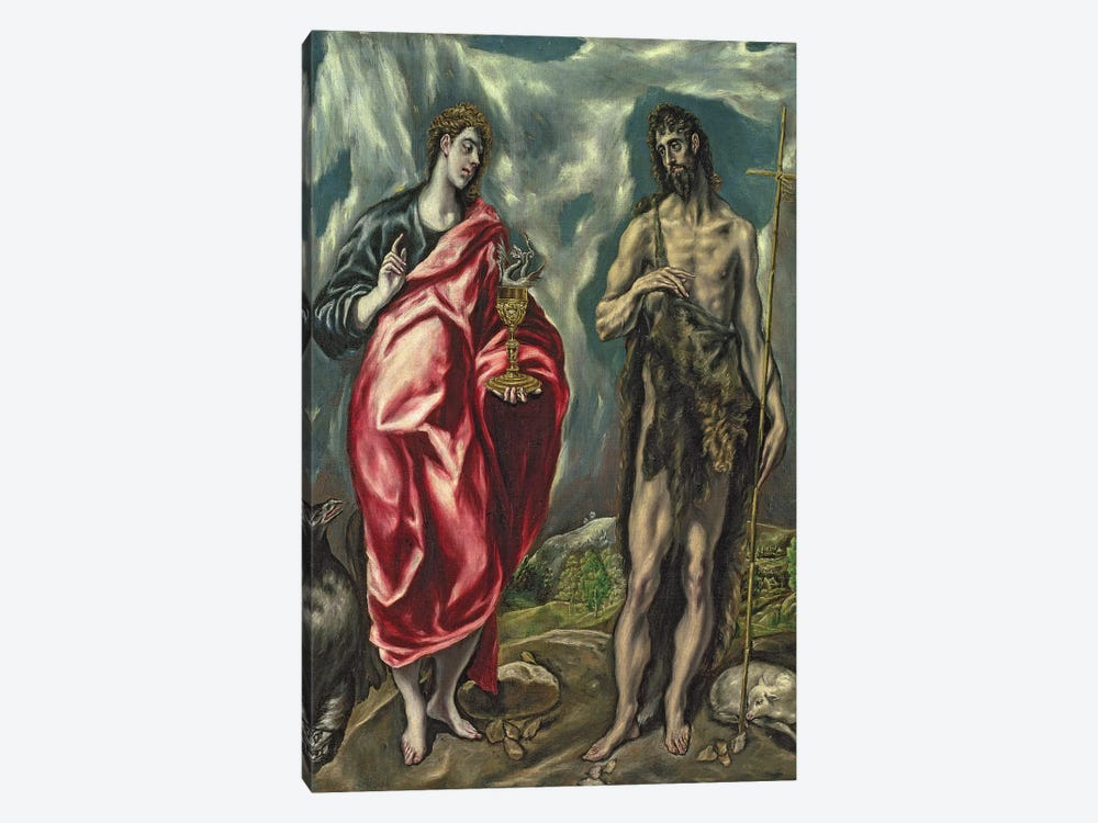 St. John The Evangelist And St. John The Baptist, 1605-10 1-piece Art Print