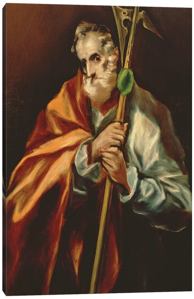 St. Jude Thaddeus, 1606 Canvas Art Print