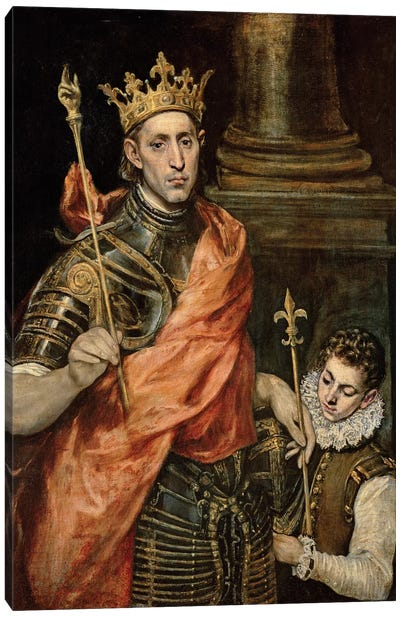 St. Louis And His Page, c.1585-90 Canvas Art Print