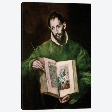 St. Luke Canvas Print #BMN6205} by El Greco Canvas Art