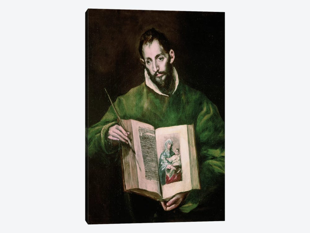 St. Luke by El Greco 1-piece Canvas Art Print
