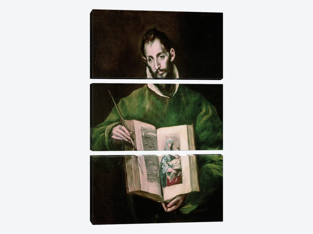 St. Luke by El Greco 3-piece Canvas Art Print