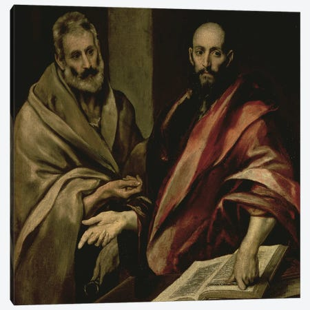 St. Peter And St. Paul, c.1587-97 Canvas Print #BMN6207} by El Greco Canvas Artwork