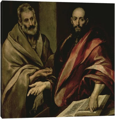 St. Peter And St. Paul, c.1587-97 Canvas Print #BMN6207