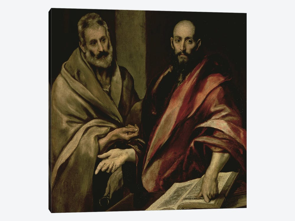 St. Peter And St. Paul, c.1587-97 by El Greco 1-piece Canvas Art Print